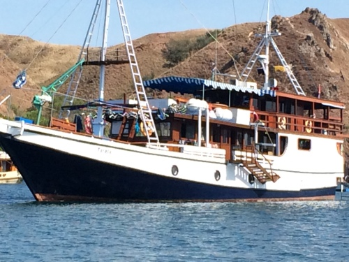 Tarata, our floating hotel in Flores Islands