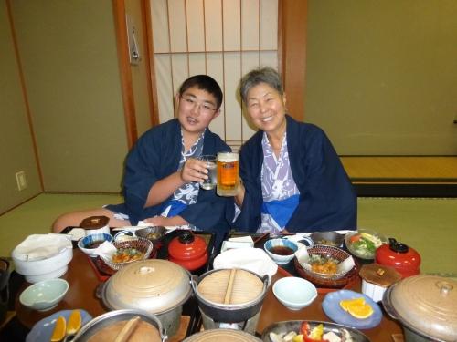 Dinner at Wakuma Ryokan Onsen