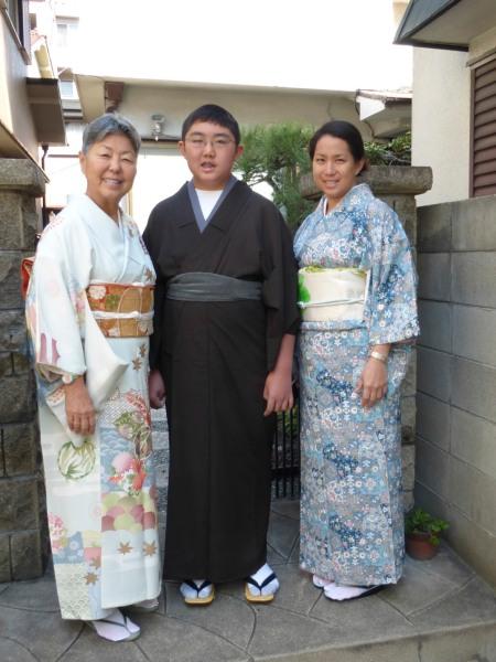 Grandma Ibaramoto dressed us in kimono