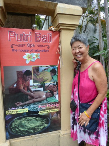 Bali spas are wonderful! $5/hour for most treatments