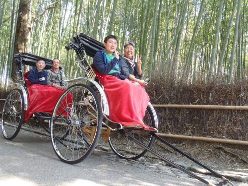 Rickshaw ride, bamboo forest, Arashiyama