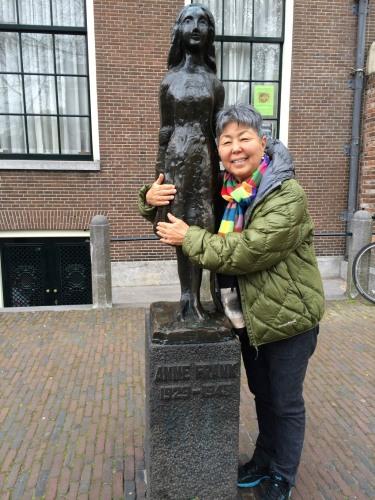 Anne Frank hug